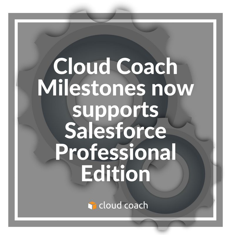 Milestones Supports Professional Edition